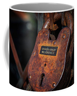 Rusty Lock Coffee Mug