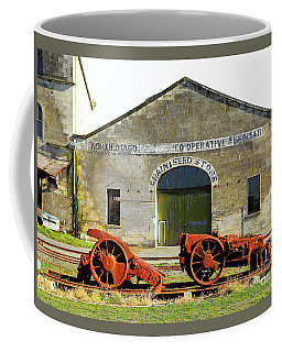 Coffee Mug featuring the photograph Rusty Machinery by Nareeta Martin
