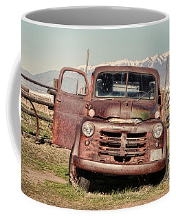 Coffee Mug featuring the photograph Rusty Old Dodge by Ely Arsha