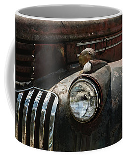 Coffee Mug featuring the photograph Rusty Old Headlight  by Kim Hojnacki