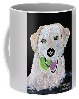 Coffee Mug featuring the painting Rusty On Canvas by Janice Rae Pariza