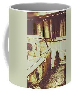 Rusty Pickup Garage Coffee Mug