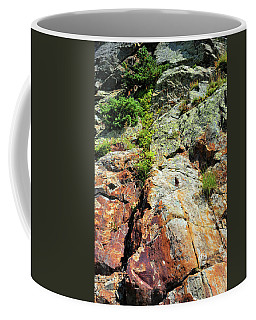 Coffee Mug featuring the photograph Rusty Rock Face by Ron Cline