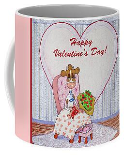 Ruthie-moo Flowers Happy Valentine's Day Coffee Mug