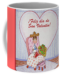 Ruthiemoo Flores Feliz Dia De San Valentin Coffee Mug