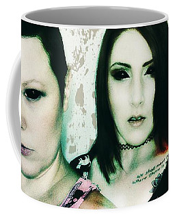 Coffee Mug featuring the digital art Ryli And Khrist 1 by Mark Baranowski