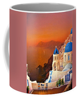 Santorini Coffee Mug by Joe Gilronan