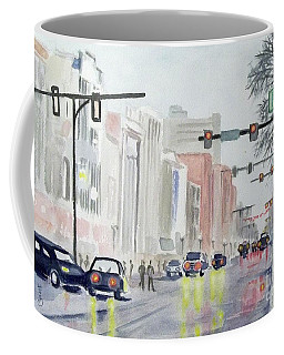 S. Main Street In Ann Arbor Michigan Coffee Mug by Yoshiko Mishina