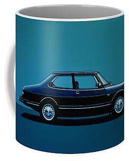 Saab 90 1985 Painting Coffee Mug