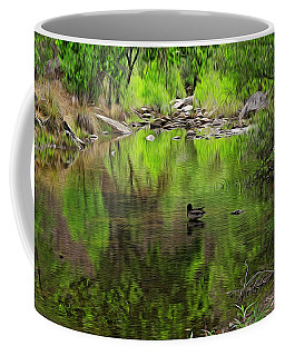 Coffee Mug featuring the photograph Sabino Reflection Op53 by Mark Myhaver