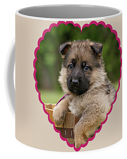 Coffee Mug featuring the photograph Sable Puppy In Heart by Sandy Keeton