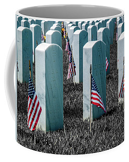 Coffee Mug featuring the photograph Sacramento Valley Veterans Cemetary by Bill Gallagher