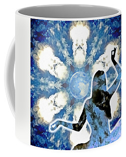Coffee Mug featuring the digital art Sacred Feminine Eclipse by Derek Gedney