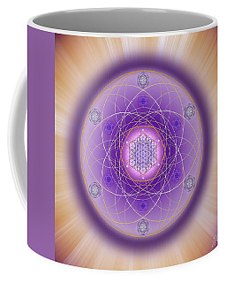 Coffee Mug featuring the digital art Sacred Geometry 704 by Endre Balogh
