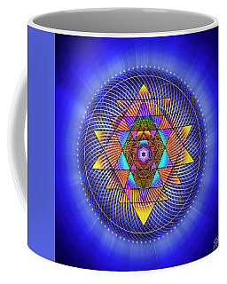 Coffee Mug featuring the digital art Sacred Geometry 705 by Endre Balogh