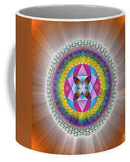 Coffee Mug featuring the digital art Sacred Geometry 706 by Endre Balogh