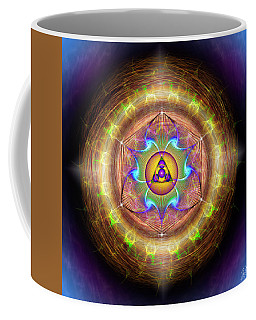 Coffee Mug featuring the digital art Sacred Geometry 707 by Endre Balogh