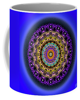Coffee Mug featuring the digital art Sacred Geometry 708 by Endre Balogh