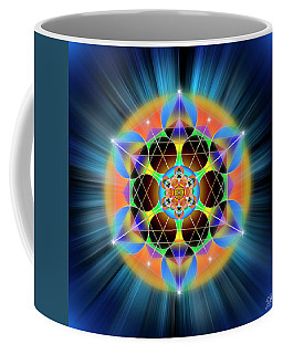 Coffee Mug featuring the digital art Sacred Geometry 709 by Endre Balogh