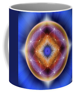 Coffee Mug featuring the digital art Sacred Geometry 712 by Endre Balogh