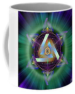 Coffee Mug featuring the digital art Sacred Geometry 713 by Endre Balogh