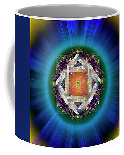 Coffee Mug featuring the digital art Sacred Geometry 714 by Endre Balogh