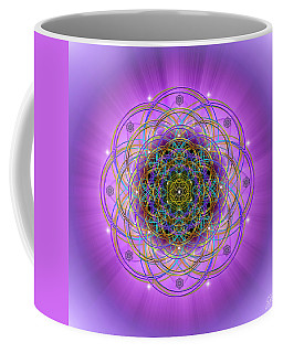 Coffee Mug featuring the digital art Sacred Geometry 715 by Endre Balogh