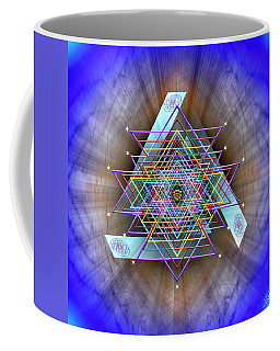Coffee Mug featuring the digital art Sacred Geometry 717 by Endre Balogh