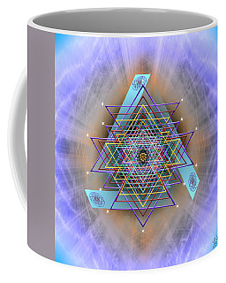 Coffee Mug featuring the digital art Sacred Geometry 717 Version 2 by Endre Balogh