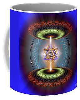 Coffee Mug featuring the digital art Sacred Geometry 718 by Endre Balogh