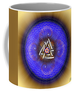 Coffee Mug featuring the digital art Sacred Geometry 719 by Endre Balogh