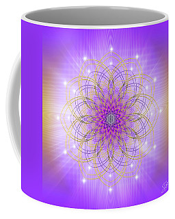 Coffee Mug featuring the digital art Sacred Geometry 721 by Endre Balogh