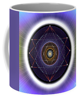 Coffee Mug featuring the digital art Sacred Geometry 722 by Endre Balogh