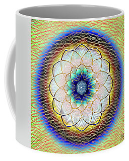 Coffee Mug featuring the digital art Sacred Geometry 723 by Endre Balogh