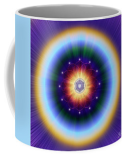 Coffee Mug featuring the digital art Sacred Geometry 724 by Endre Balogh