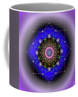 Coffee Mug featuring the digital art Sacred Geometry 725 by Endre Balogh