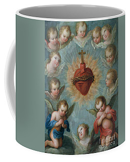 Sacred Heart Of Jesus Surrounded By Angels Coffee Mug