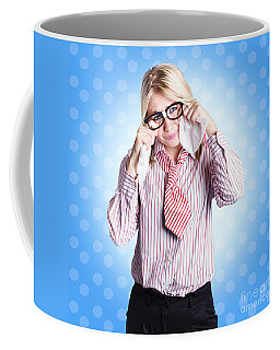 Sad Worker In Business Trouble Coffee Mug