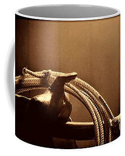 Saddle In A Barn Coffee Mug by American West Legend By Olivier Le Queinec
