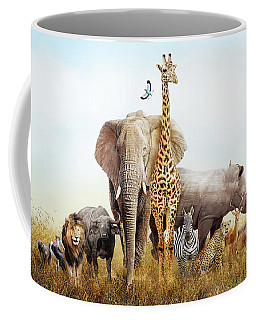 Safari Animals In Africa Composite Coffee Mug