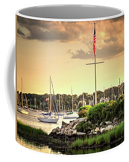 Coffee Mug featuring the photograph Safe Harbor Bristol Ri by Tom Prendergast