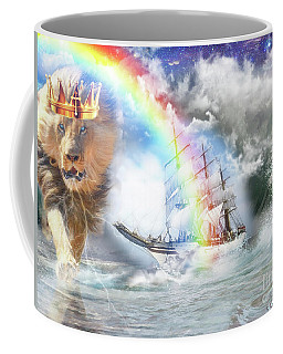 Coffee Mug featuring the digital art Safe Harbor  by Dolores Develde