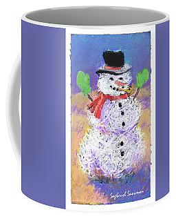 Sagebrush Snowman With Green Mittens Coffee Mug