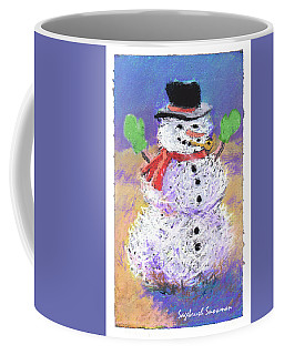 Sagebrush Snowman With Green Mittens Coffee Mug
