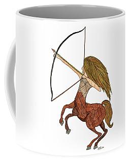Coffee Mug featuring the drawing Sagittarius by Barbara McConoughey