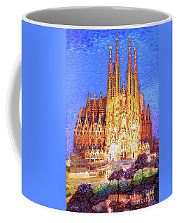 Sagrada Familia At Night Coffee Mug by Jane Small