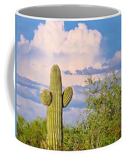 Saguaro And Mesquite In Monsoon Season Coffee Mug