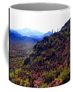 Coffee Mug featuring the photograph Saguaro National Park Winter 2010 by Michelle Dallocchio