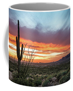 Saguaro Sunset At Lost Dutchman 2 Coffee Mug