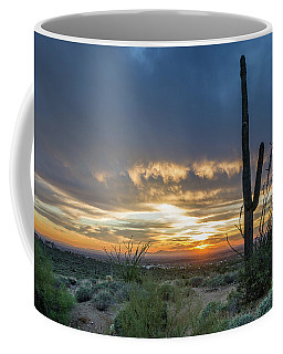 Saguaro Sunset At Lost Dutchman Coffee Mug